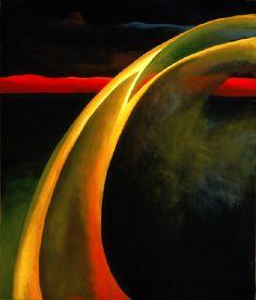 """Red & Orange Streak"", by Georgia O'Keeffe (1919)"