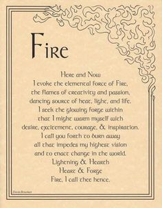 This is one of my favorites on Wiccan Supplies, Witchcraft Supplies & Pagan Supplies Experts-Eclectic Artisans: Fire Evocation Poster