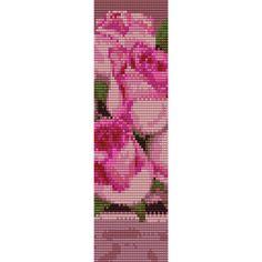 Pink Roses Loom Bead Pattern, Bracelet Pattern, Bookmark Pattern, Seed Beading Pattern Miyuki Delica Size 11 Beads - PDF Instant Download by SmartArtsSupply on Etsy