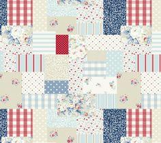 Fryett's Fabrics: Vintage patchwork Blue