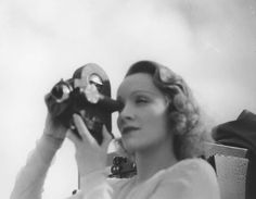 Marlene Dietrich making a home video - Berlin Film Museum