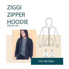Ziggi Zipper Hoodie sewing pattern from Wardrobe By Me