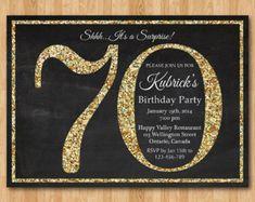 90th Birthday Invitation Gold Glitter Party By Arthomer