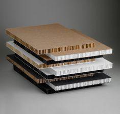 Honeycomb cardboard design panel diseño en cartón panel nido abeja
