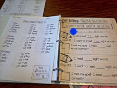 Guided Math Freebie and Sight Word Tracking, data binder, data binder first grade, student data,