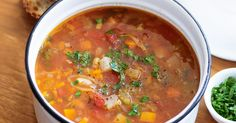 Get 2 and a half serves of vegies per serve with our Tuscan vegetable and bean soup.