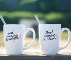 His & Hers Coffee Mugs (So Cute!)