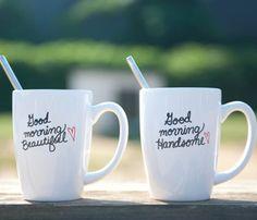 His & Hers Coffee Mugs (So Cute!)