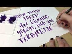 """Ideen verwirklichen"" Brush Lettering Printable - Frau Hölle StudioFrau Hölle Studio"