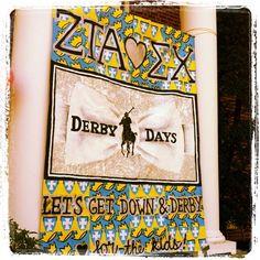 "WINNER of the ""best banner of the week"" award!   wow ~ ZTA derby days inspiration ♥"