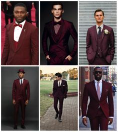 5 Ways Grooms Can Wear Marsala Effortlessly | A complete suit in Marsala makes a bold statement whether you wear it dressed up for a formal wedding or dressed down for a casual fete. You can wear it either in an of-the-moment monochromatic get-up or opt for a blue shirt and navy tie combination. #groom #marsala #groomstyle