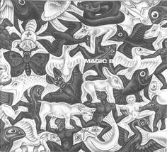 MC Escher (Maurits Cornelis Escher) Mosaic I Mc Escher, Escher Kunst, Escher Art, Illusion Drawings, Illusion Art, Mathematical Drawing, Cover Art, Fish Illustration, Arte Pop