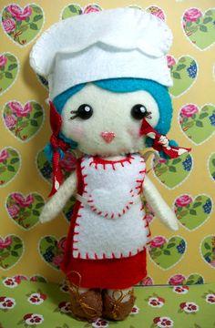 Pocket Pal felt doll - Chef