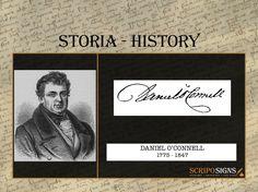 DANIEL O'CONNELL - #scripomarket #scriposigns #scripofilia #scripophily #finanza #finance #collezionismo #collectibles #arte #art #scripoart #scripoarte #borsa #stock #azioni #bonds #obbligazioni