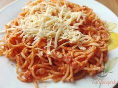 Vynikající oběd za 20 minut z jedné pánve Best Spaghetti Recipe, Spaghetti Recipes, Cheese Spaghetti, Spaghetti Sauce, Salami And Cheese, Korean Diet, Sweet Cakes, Meals For Two, Modern Kitchens