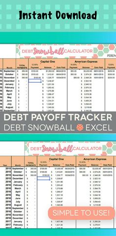 pay off debt spreadsheet