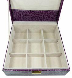 Šperkovnice čtverec střední fialová 5778-3 | Bižuterie Kozák Jewellery Box, Ice Cube Trays, Jewelry Box Store, Jewel Box