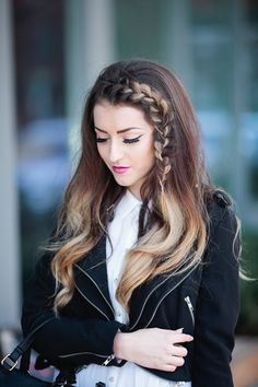 braid hairstyle | spring fashion | ootd | ombre beach waves