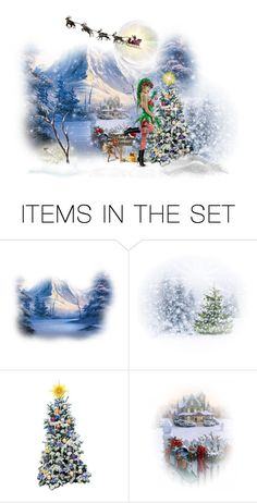 """The Christmas Elf"" by chileez ❤ liked on Polyvore featuring art"
