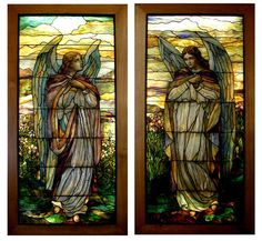 tiffany angel windows. beautiful