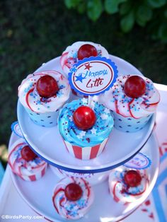 4th of July Party Cupcakes