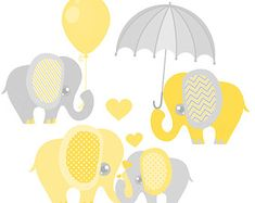This cute clipart set of elephants is perfect for pink and grey themed baby showers or nursery decor. Commercial use is okay if you are a small business (please read the terms of use on my shop policy page concerning all clip art). { * { * { * Quick Specifics: * } * } * } * Included Files (sizes can be scaled down without losing quality): - Baby with Mommy Elephant (hearts included): approximately 9 x 6 - Elephant with Balloon: approximately 6.75 x 8 - Elephant with Umbrella: approximatel...