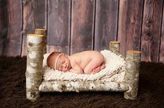 Log Bed Photography prop.Wooden prop, wooden photo prop. baby photography props…