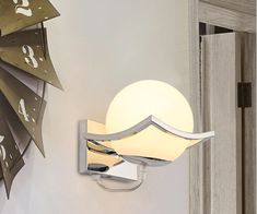 Bathroom Sconce Lighting, Bathroom Wall Sconces, Bedroom Lighting, Led Wall Lamp, Moon Design, Beautiful Wall, Wall Lights, Bulb, Modern