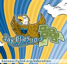 """Help students explore the local, regional or state economy as well as the geography of their area using the """"Jay Flies Through 10-J"""" lesson from the Kansas City Fed. Follow the lesson steps to discuss the resources, businesses, entertainment and tourist sites in your community."""