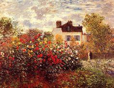 Claude Monet. Garden in the Argenteuil Sun - The Dahlias (1873).