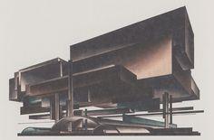 Iakov Chernikhov, Composition 138, airplane factory 1928