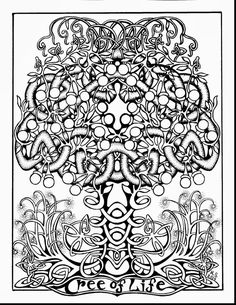 Good Adult Tree Of Life Coloring Page With Celtic Pages And