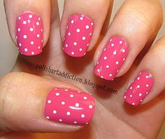 i wish i could get my polka dots to look that cute, all evenly spaced and the same size..