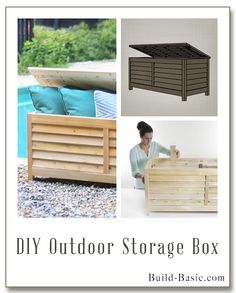 Build A DIY Outdoor Storage Box   Building Plans By @BuildBasic Www.build