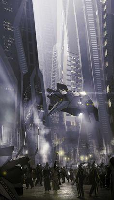 Cyberpunk, Futuristic Architecture, Future City by Tonatiuh Ocampo