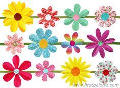 Folding paper flowers