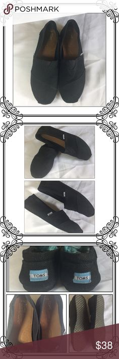 6d1951750be0 Black Burlap TOMS Mens size   womens size used once inside the house