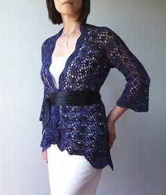 Ravelry: Ava - lacy shells cardigan pattern by Vicky Chan