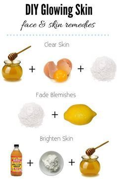 DIY Glowing Skin - face & skin remedies. 3 powerful recipes you can do at home for keeping your skin beautiful.
