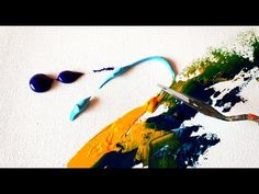 Abstract Painting / Easy and Vibrant in Acrylics / Demonstration / Project 365 days / Day #020 - YouTube