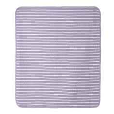 Violet Lavender Trellis and Candy Stripe Crib Quilt