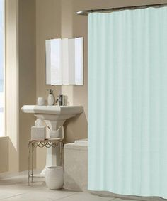 Look at this #zulilyfind! Blue Waffle Square Shower Curtain by Beatrice Home #zulilyfinds