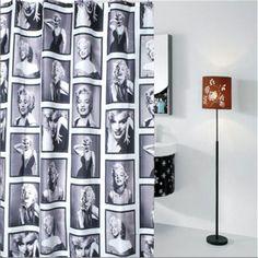 180*180cm/ 180*200cm Waterproof Mouldproof Marilyn Monroe Pattern Polyester Bathroom Shower Curtain Bath Curtain