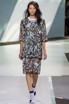 Sheer.  And those boots!!  3.1 Phillip Lim Spring 2013 RTW via Style.com #NYFW