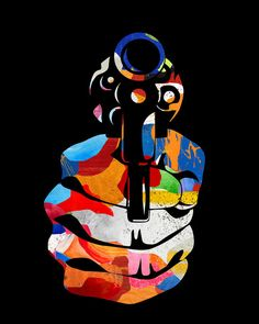 Colorful artwork by Hervé Perdriel