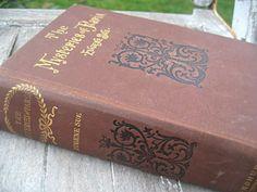 Antique book The Mysteries of Paris brown by LittleBeachDesigns, $49.00