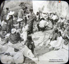 Fotos de Ciudad de México, Distrito Federal, México: Peregrinos villa de Guadalupe 1908