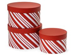 Peppermint Stripe Nested Boxes from Nashville Wraps!