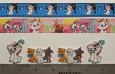 """7/8"""" Mixed Lot The Aristocats Inspired Ribbon and Resins"""