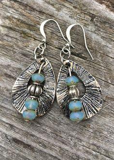 Boho Earrings Hippie Earrings Dangle Earrings by BeachBohoJewelry